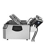 Waring WDF1000D Countertop Electric Fryer - (2) 10-lb Vat, 120v