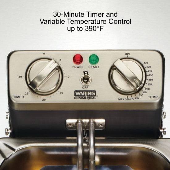 Waring WDF1500B Countertop Electric Fryer - (1) 15-lb Vat, 208v/1ph