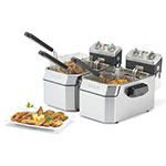 Waring WDF1500BD Countertop Electric Fryer - (2) 15-lb Vats, 208v/1ph