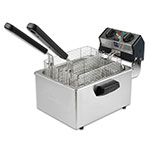 Waring WDF75RC Countertop Electric Fryer - (1) 8.5-lb Vat, 120v