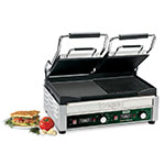 Waring WDG300T Double Commercial Panini Press w/ Cast Iron Grooved Left/Smooth Right Plates, 240v/1ph