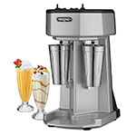 Waring WDM240 Counter Mounted Drink Mixer w/ 2-Spindle & 3-Speed Motor, Stainless Cups, 120V