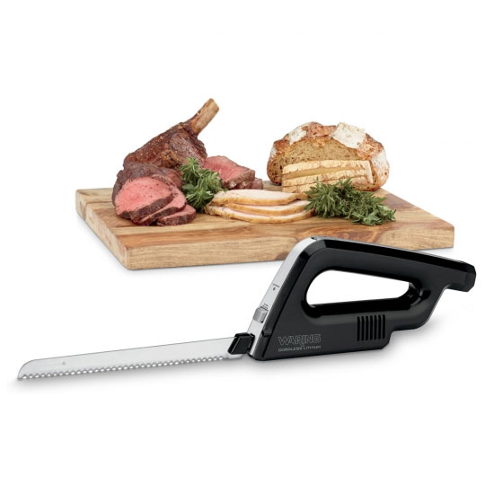 Waring WEK200 Cordless Electric Carving Knife w/ Lithium Ion Battery