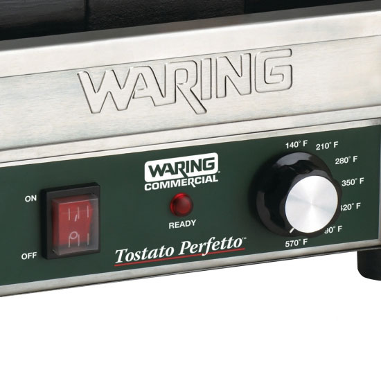 Waring WFG150 Commercial Panini Press w/ Cast Iron Smooth Plates, 120v