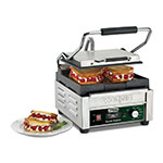 Waring WFG150T Commercial Panini Press w/ Cast Iron Smooth Plates, 120v