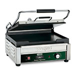 Waring WFG250T Single Toasting Grill w/ Flat Cast Iron Plates, 14.5x11-in Cooking Surface, 120V
