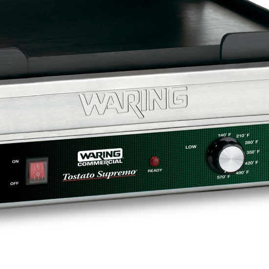 Waring WFG275 Commercial Panini Press w/ Cast Iron Smooth Plates, 120v