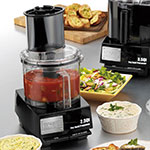 Waring WFP11S 1-Speed Batch/Bowl Food Processor w/ 2.5-qt Bowl, 120v