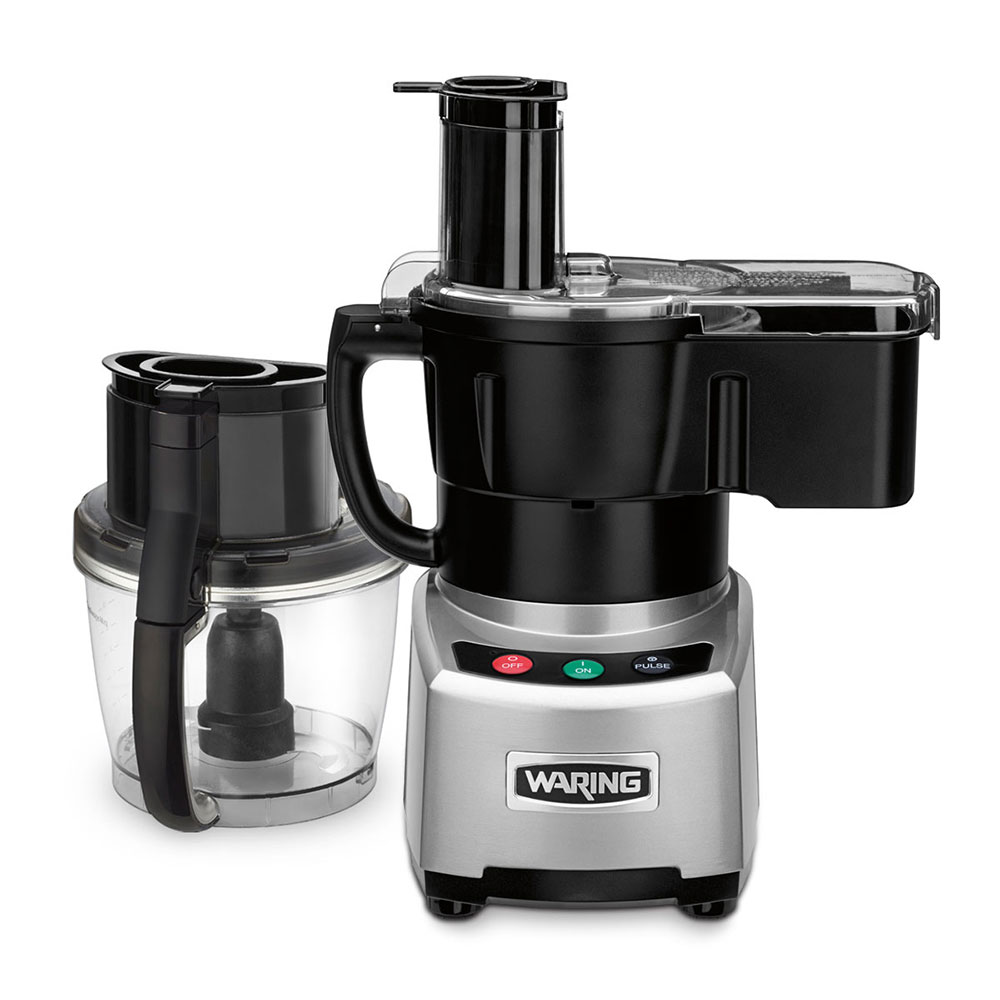 Waring WFP16SCD 4-qt Combination Continuous Feed Batch Bowl Processor w/ Push Buttons