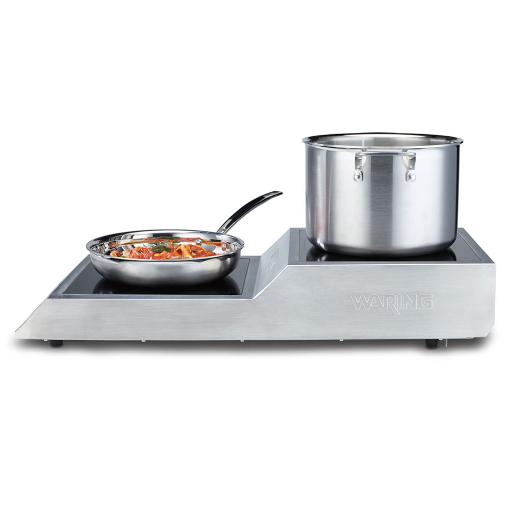 Waring WIH800 Countertop Commercial Induction Cooktop w/ (2) Burners, 208v/1ph