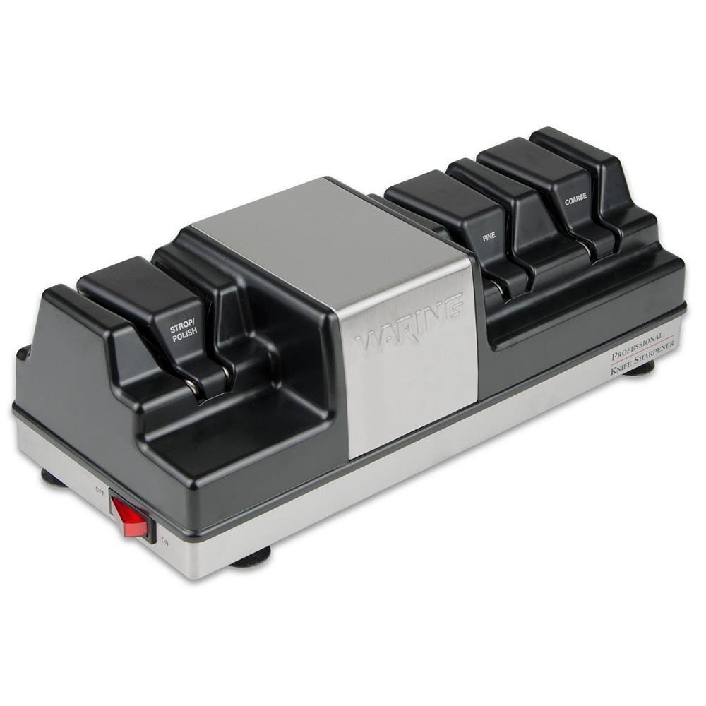 Waring WKS800 Electric Knife Sharpener w/ 3-Wheels & Magnetized Drawer