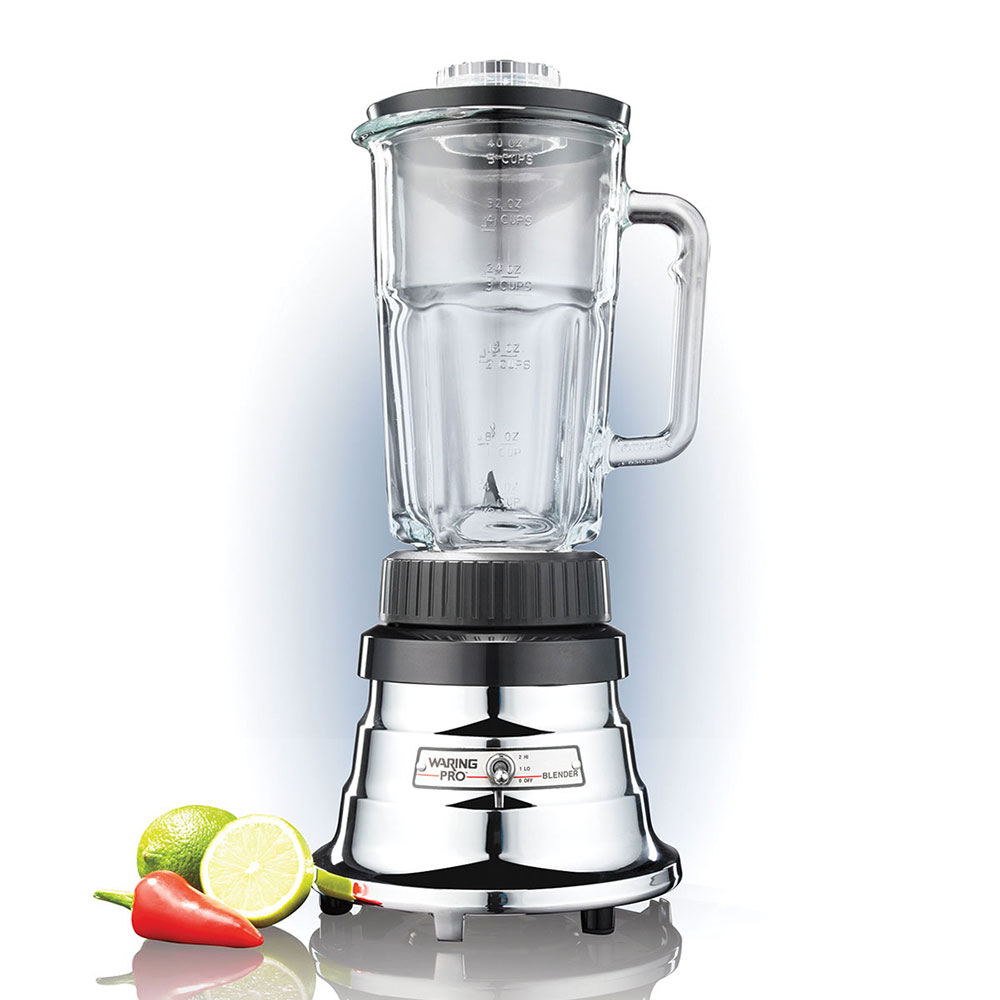 Waring WPB05 2-Speed Bar Blender w/ 40-oz Glass Carafe, Chrome