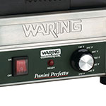 Waring WPG150 Commercial Panini Press w/ Cast Iron Grooved Plates, 120v