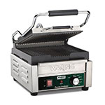 Waring WPG150B Commercial Panini Press w/ Cast Iron Grooved Plates, 208v/1ph