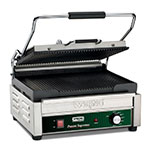 Waring WPG250 Commercial Panini Press w/ Cast Iron Grooved Plates, 120v