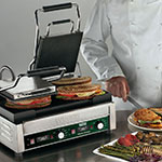 Waring WPG300T Double Commercial Panini Press w/ Cast Iron Grooved Plates, 240v/1ph