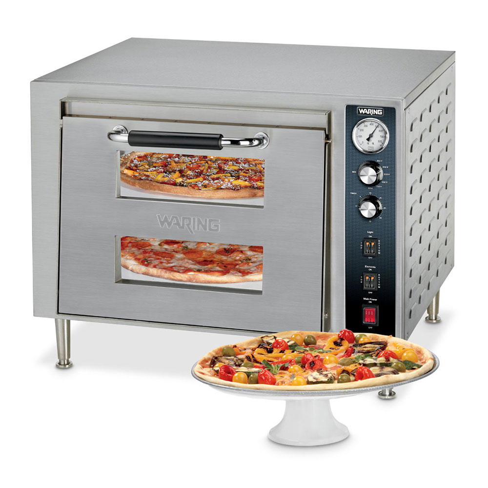 Waring WPO700 Countertop Pizza Oven - Double Deck, 240v/1ph