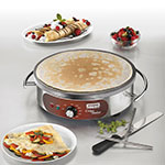 "Waring WSC160 Crepe Maker w/ 16"" Cast Iron Cook Surface & Adjustable Thermostat"