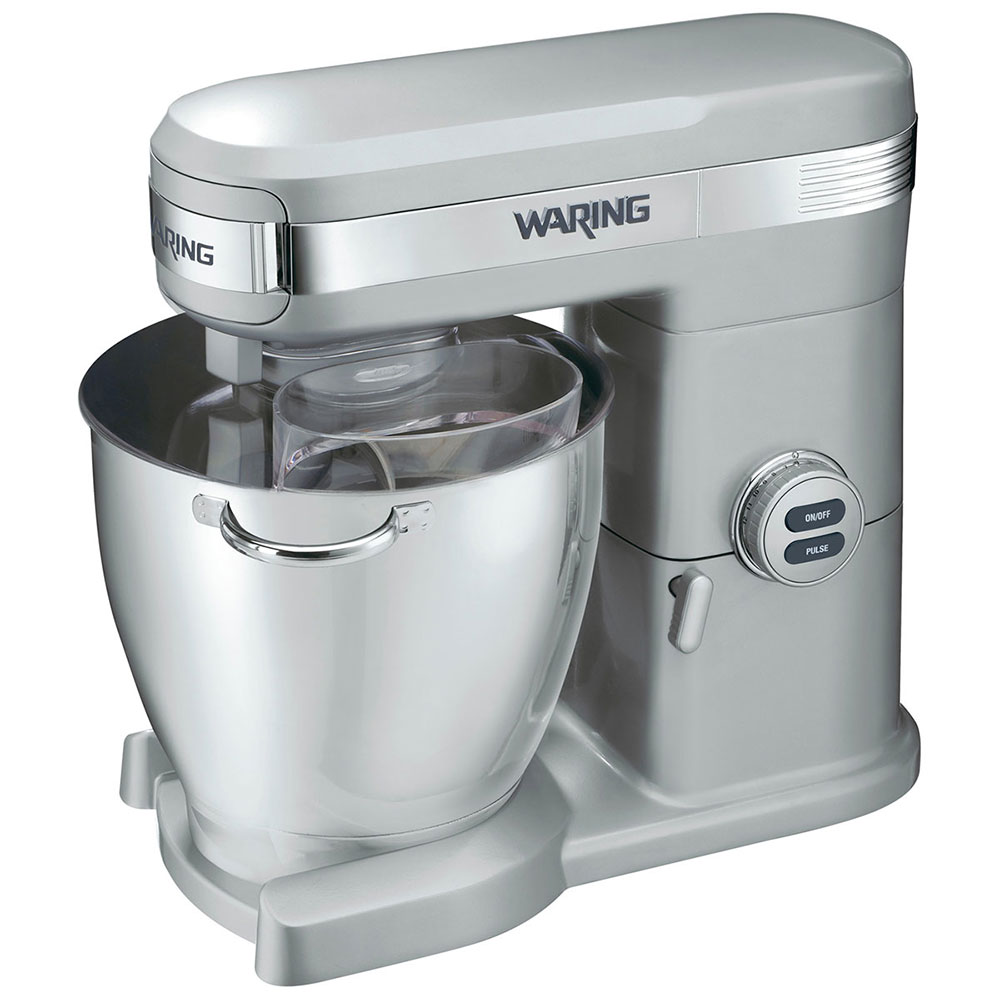 Waring WSM7Q 7-qt Stand Mixer w/ 12-Mixing Speeds & Stainless Bowl, Paddle, Whisk, Hook