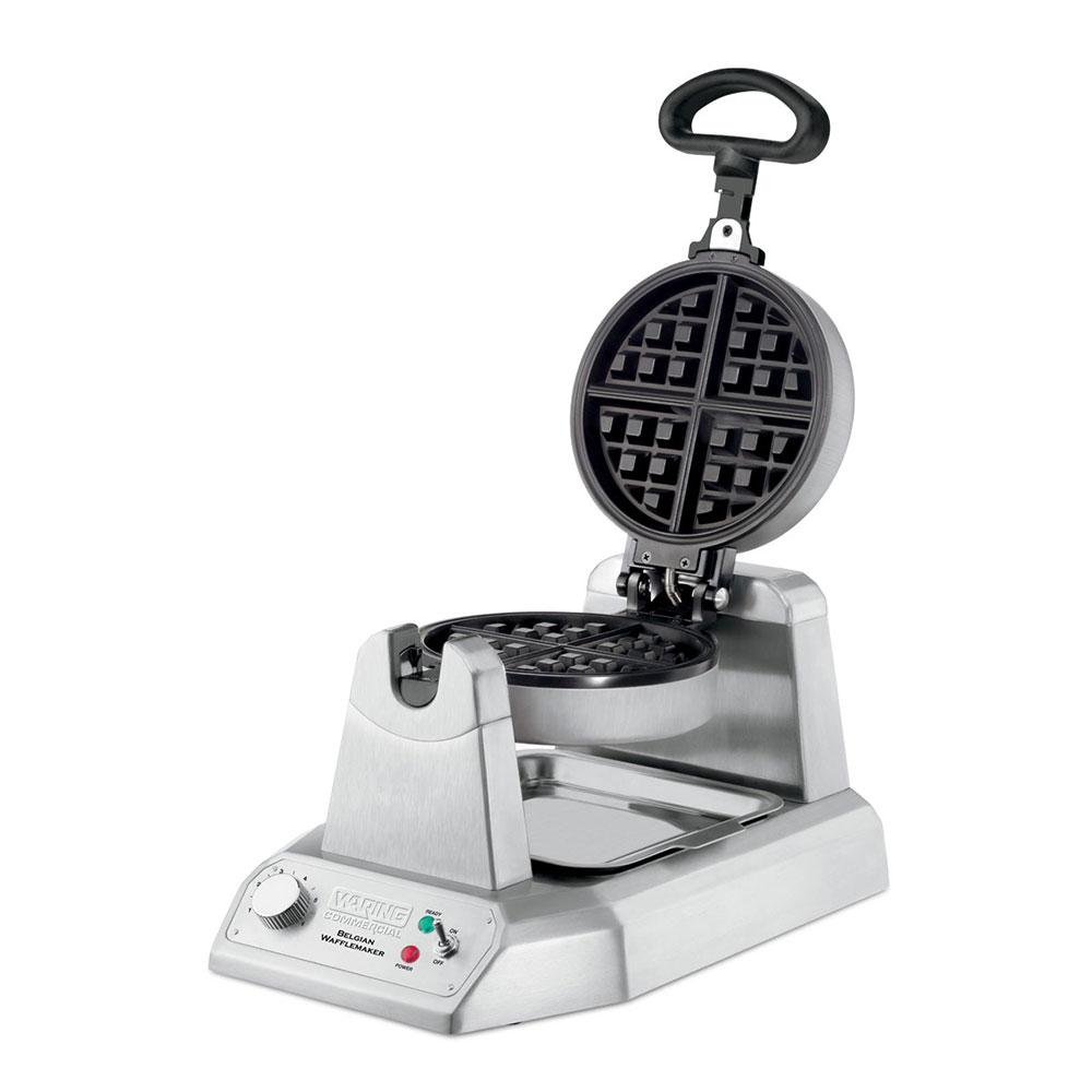 Waring WW180 Single Belgian Waffle Maker w/ Measuring Cup & Drip Tray, 6-Settings