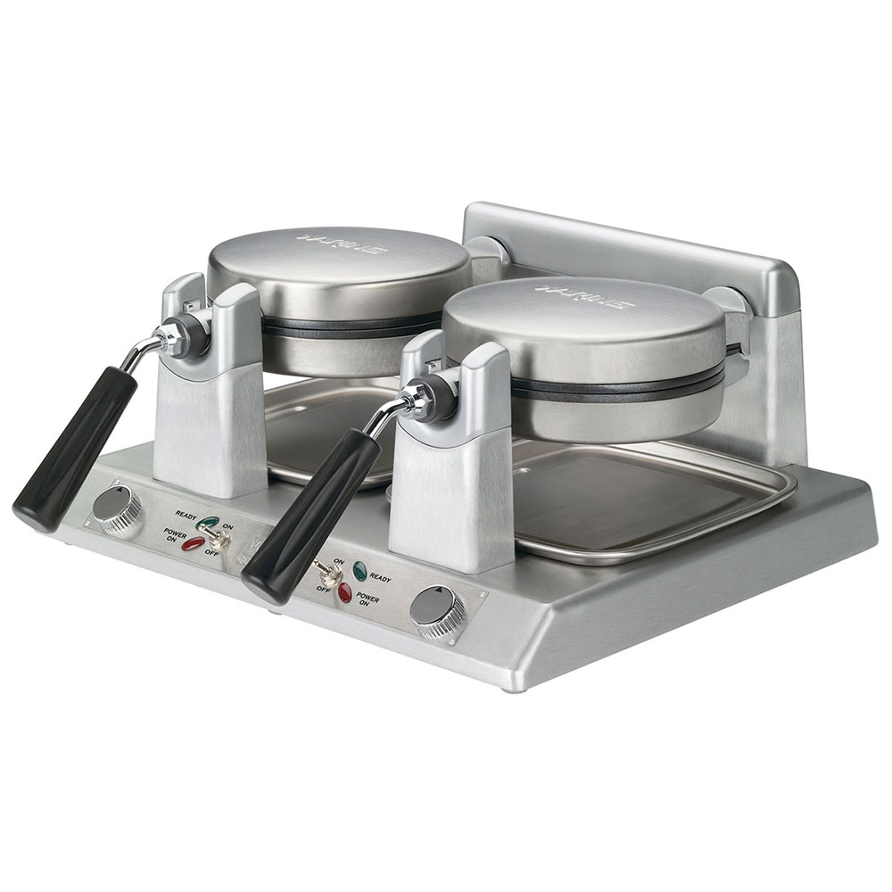 Waring WW250B Double Belgian Waffle Maker w/ LED Indicator & Non-Stick Plates, 208v
