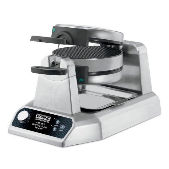 "Waring WWCM200 Non-Stick Double Waffle Cone Maker w/ (25) 7"" Per Hour, Rotary"