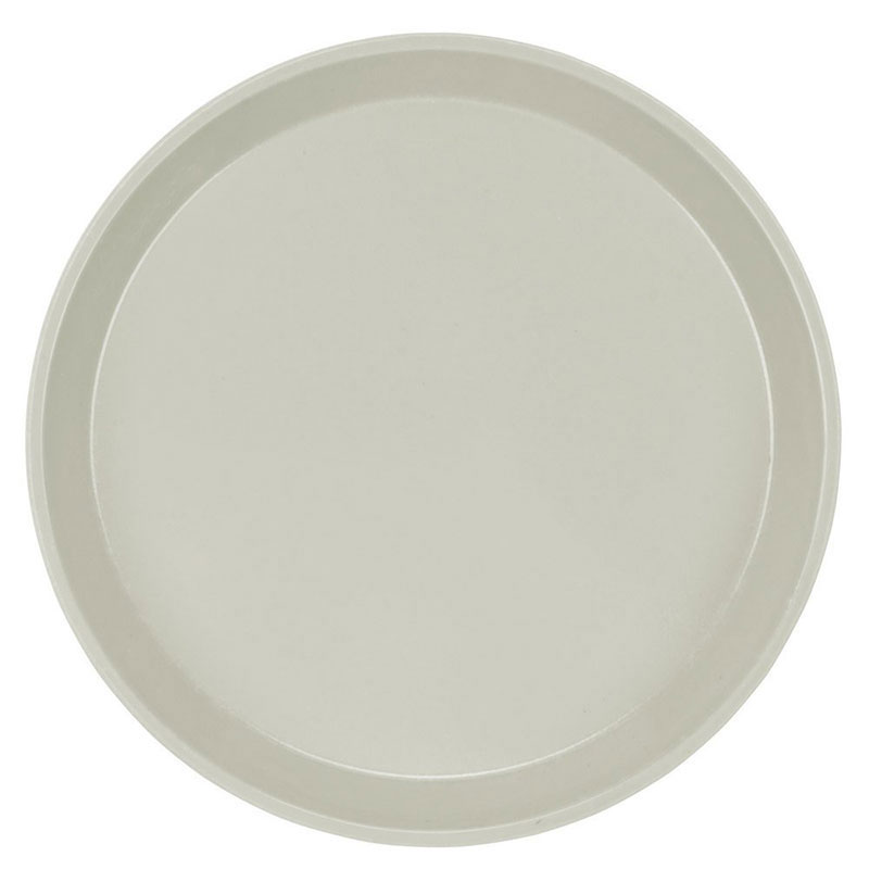 "Cambro 1000101 10"" Round Serving Camtray - Antique Parchment"