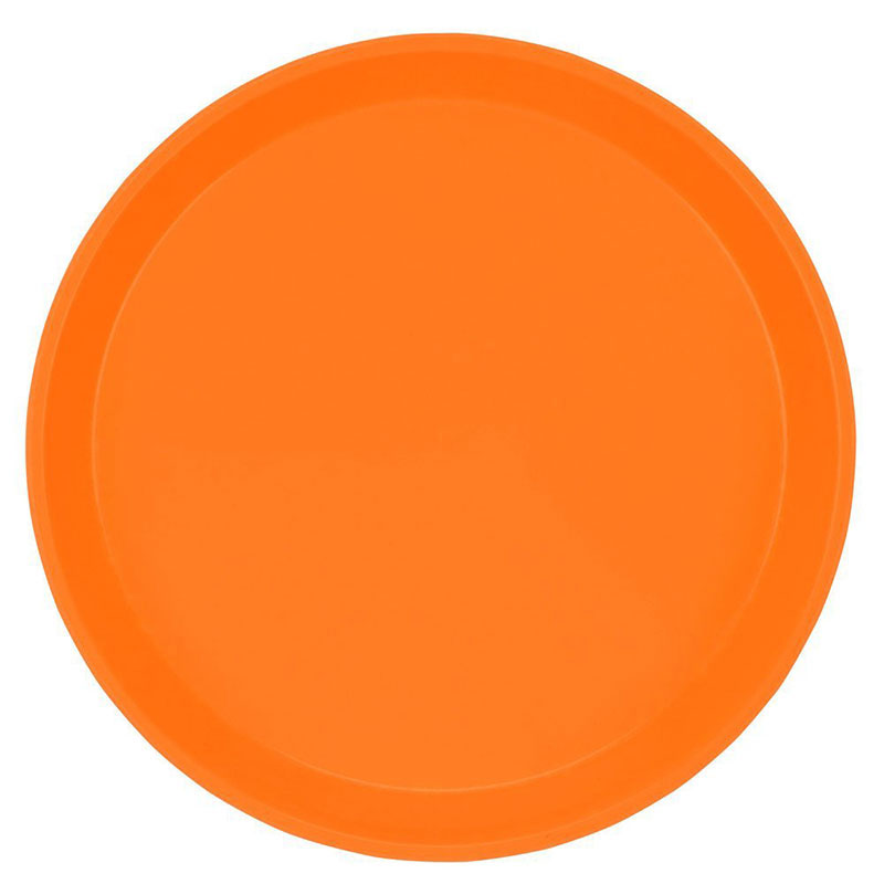 "Cambro 1000222 10"" Round Serving Camtray - Orange Pizzazz"