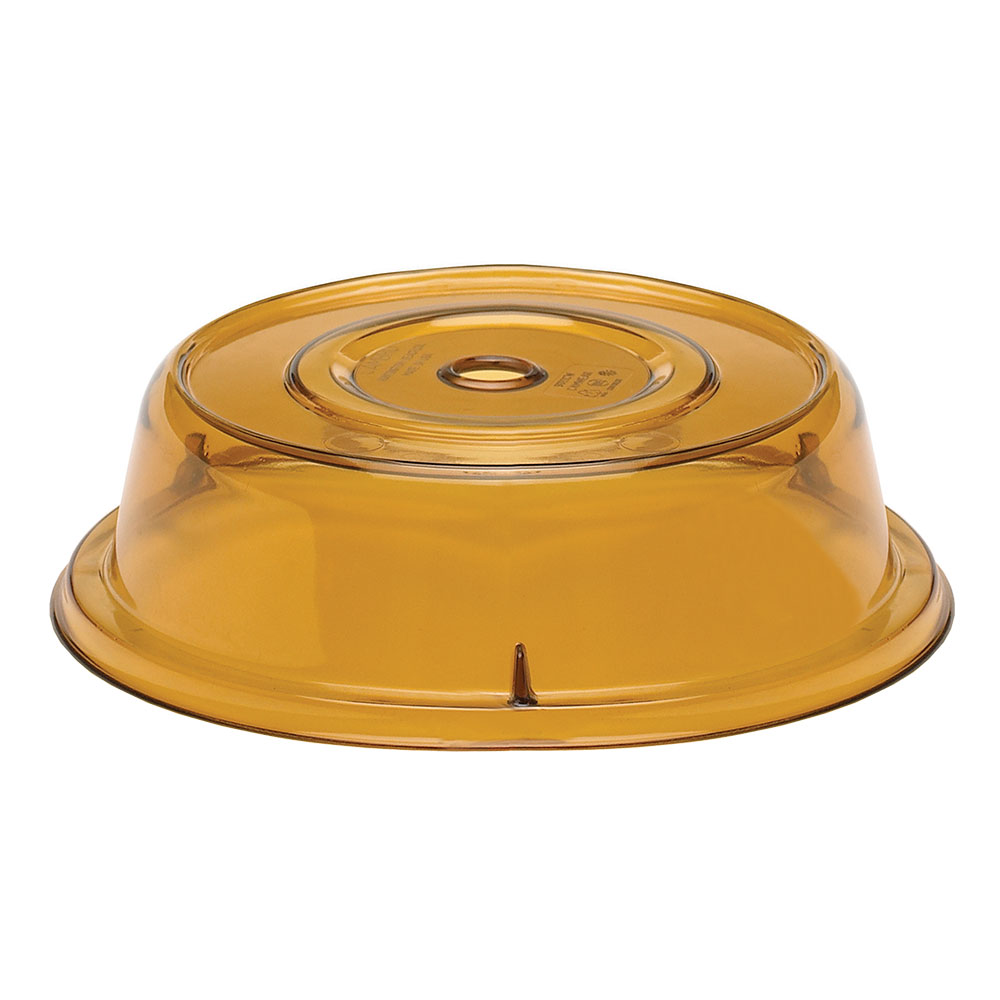"Cambro 1000CW153 10-3/16"" Round Camwear Plate Cover - Amber"