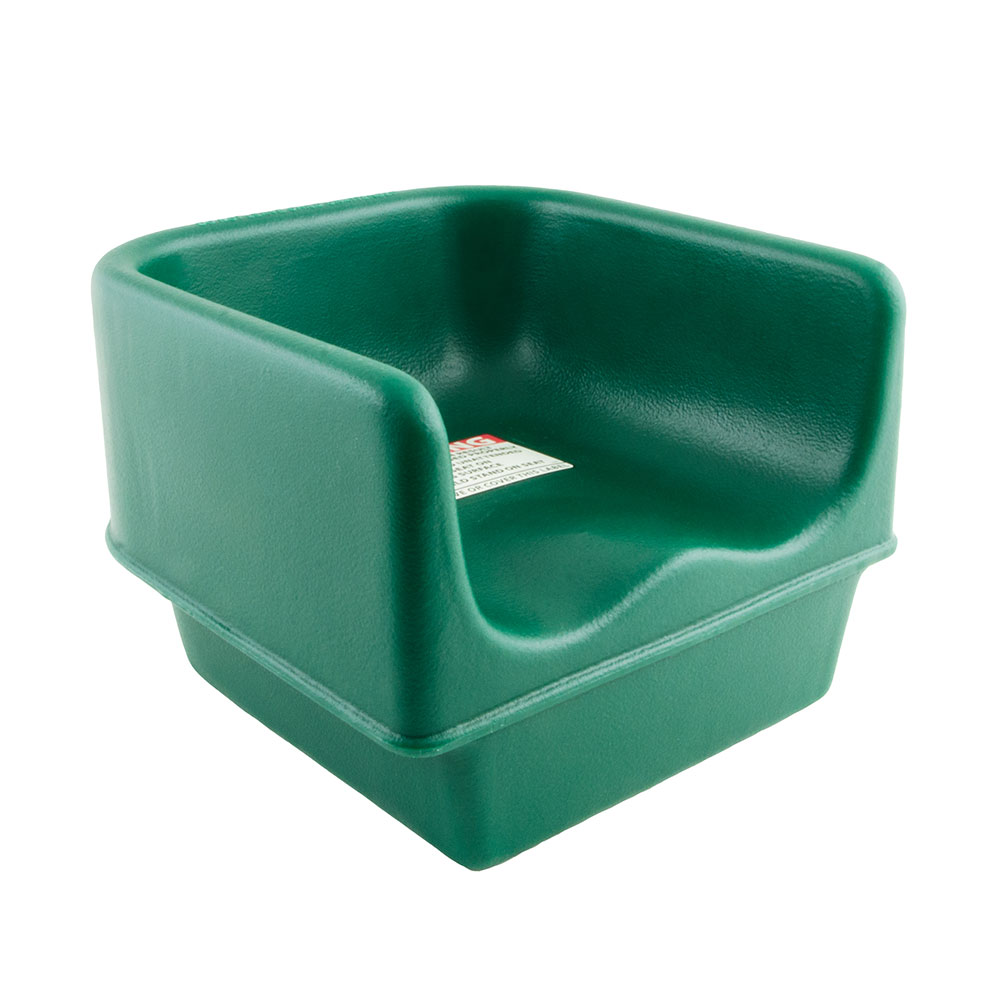 Cambro 100BC1519 Single-Height Booster Seat - Polyethylene, Green