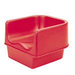 Cambro 100BC158 Single-Height Booster Seat - Polyethylene, Hot Red