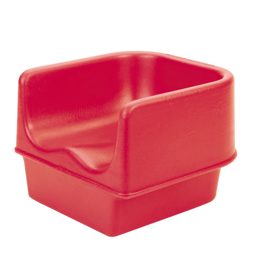 Cambro 100BC158 Single Height Booster Seat - Hot Red