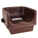 Cambro 100BCS131 Single Height Booster Seat with Strap - Dark Brown