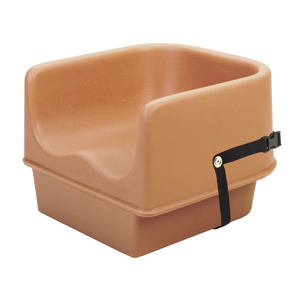 Cambro 100bcs157 Single Height Booster Seat W Safety Strap Polyethylene Coffee Beige