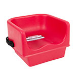 Cambro 100BCS158 Single Height Booster Seat with Strap - Hot Red