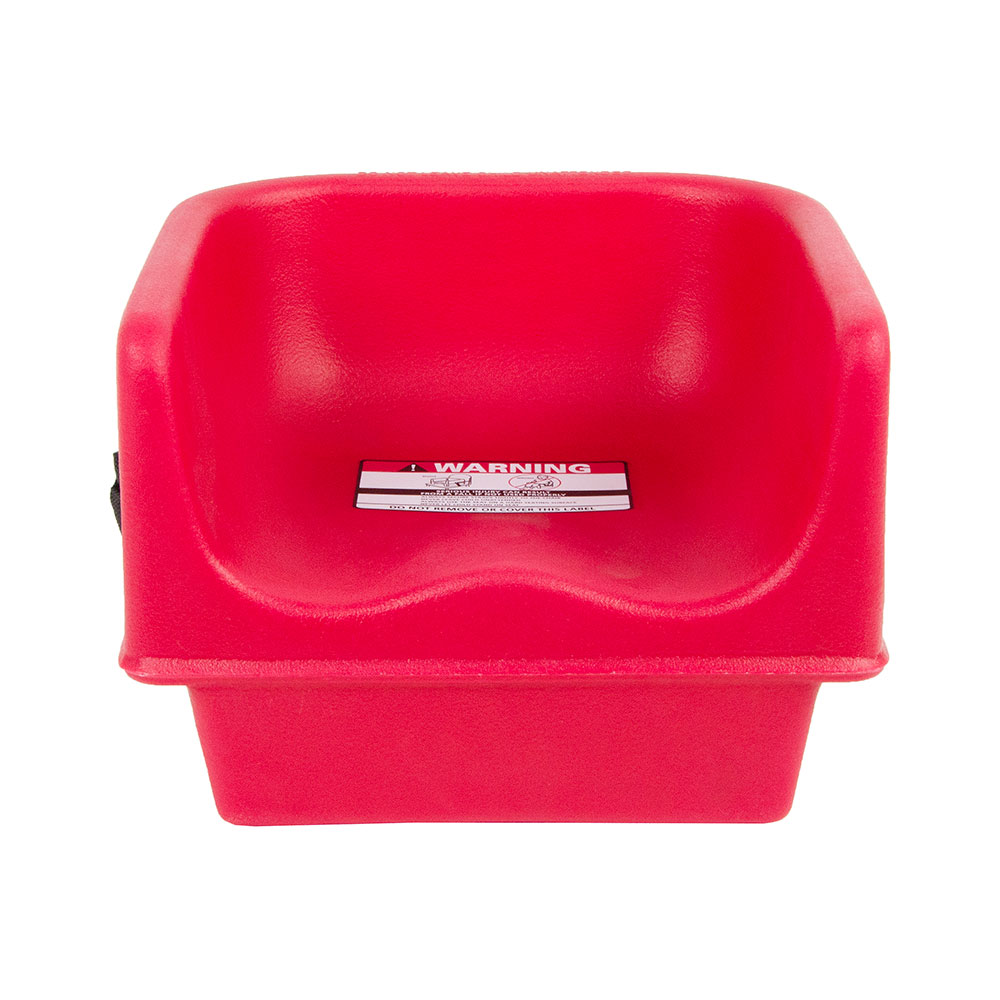Cambro 100BCS158 Single-Height Booster Seat w/ Safety Strap - Polyethylene, Hot Red