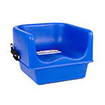 Cambro 100BCS186 Single-Height Booster Seat w/ Safety Strap - Polyethylene, Navy Blue