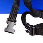 Cambro 100BCS186 Single-Height Booster Seat w/ Safety Strap - Polyethylene, Navy Blue
