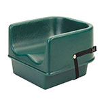 Cambro 100BCS519 Single-Height Booster Seat w/ Safety Strap - Polyethylene, Green
