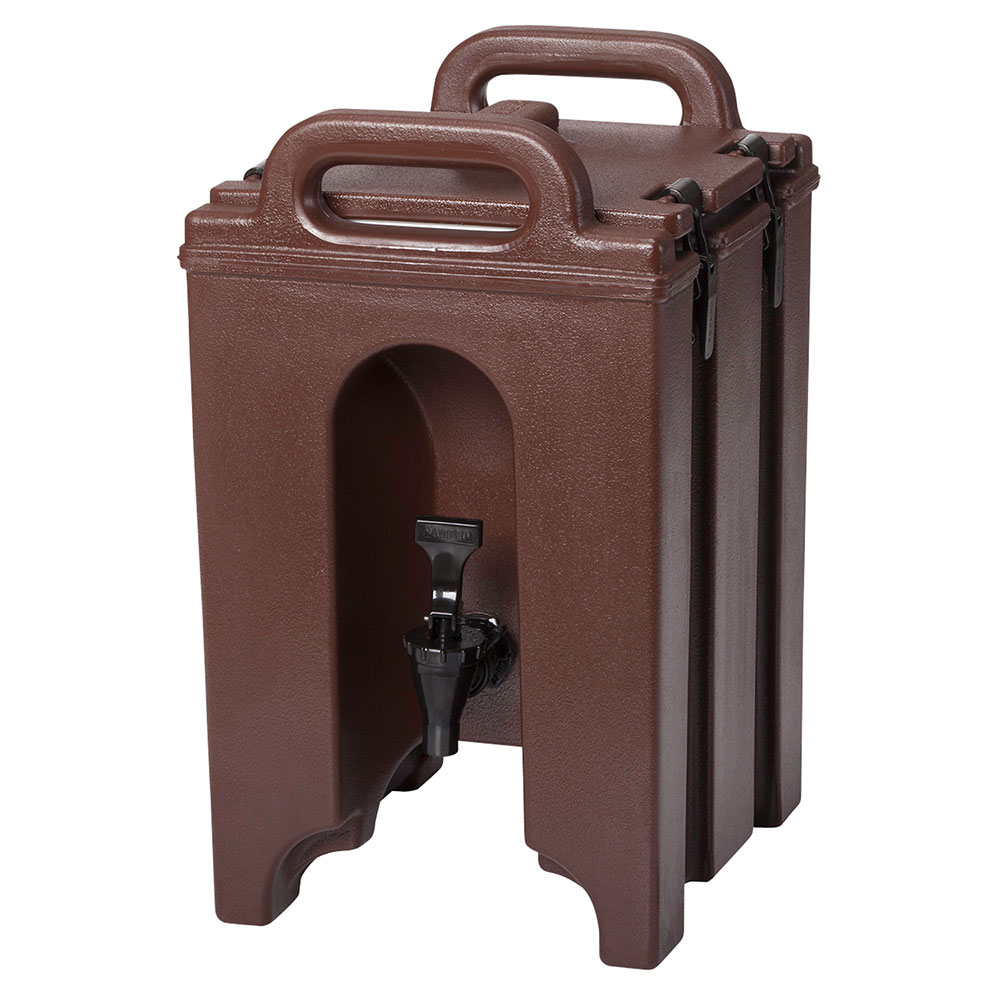 Cambro 100LCD131 1-1/2-gal Camtainer Beverage Carrier - Insulated, Dark Brown