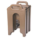 Cambro 100LCD157 1-1/2-gal Camtainer Beverage Carrier - Insulated, Coffee Beige