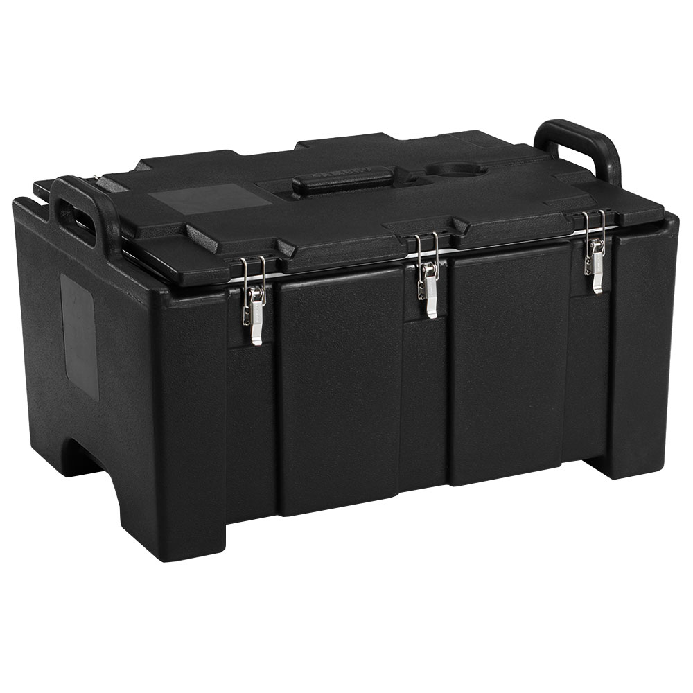 "Cambro 100MPC110 Insulated Food Pan Carrier - 18x26.75x15"" Black"