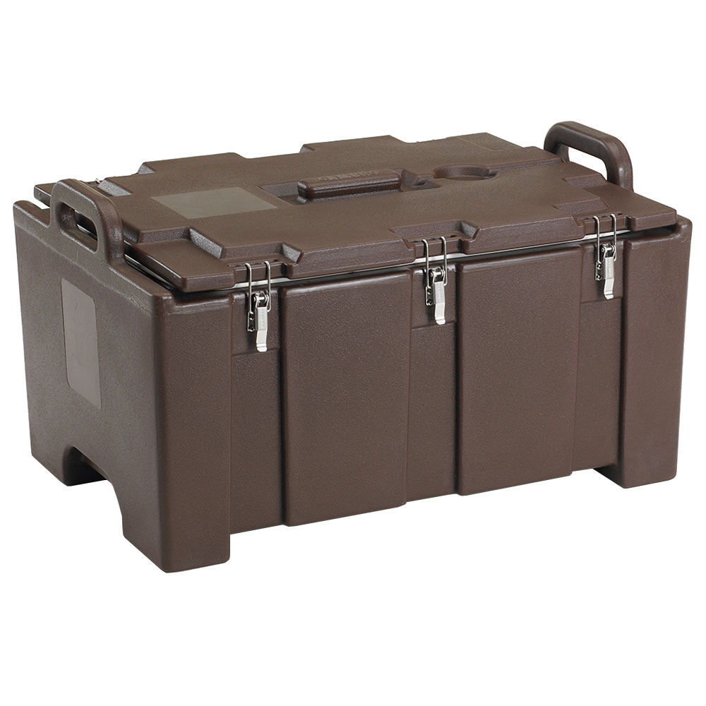 "Cambro 100MPC131 Insulated Food Pan Carrier - 18x26.75x15"" Dark Brown"