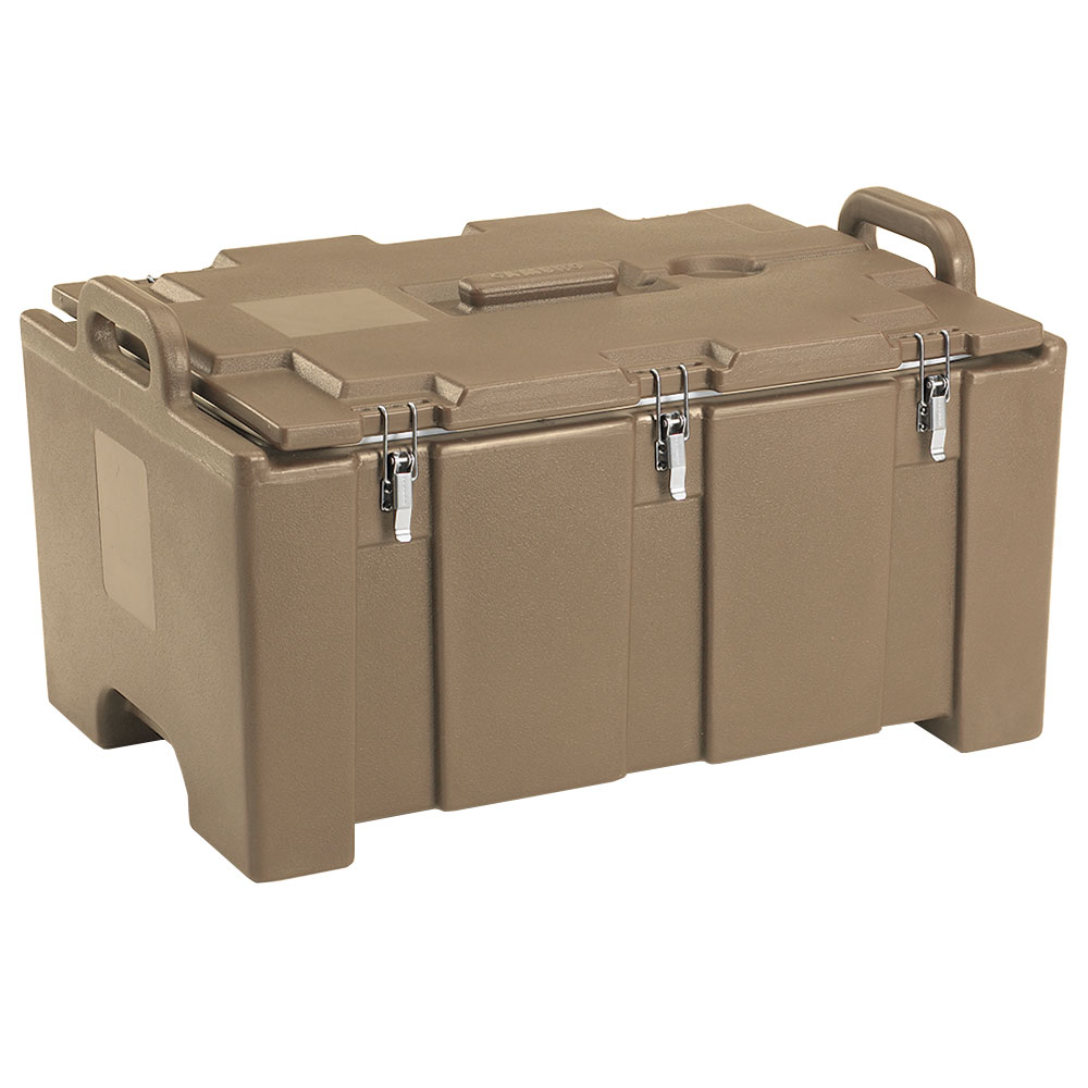 "Cambro 100MPC157 Insulated Food Pan Carrier - 18x26.75x15"" Coffee Beige"
