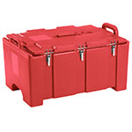 "Cambro 100MPC158 Insulated Food Pan Carrier - 18x26.75x15"" Hot Red"