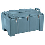 "Cambro 100MPC401 Insulated Food Pan Carrier - 18x26.75x15"" Slate Blue"