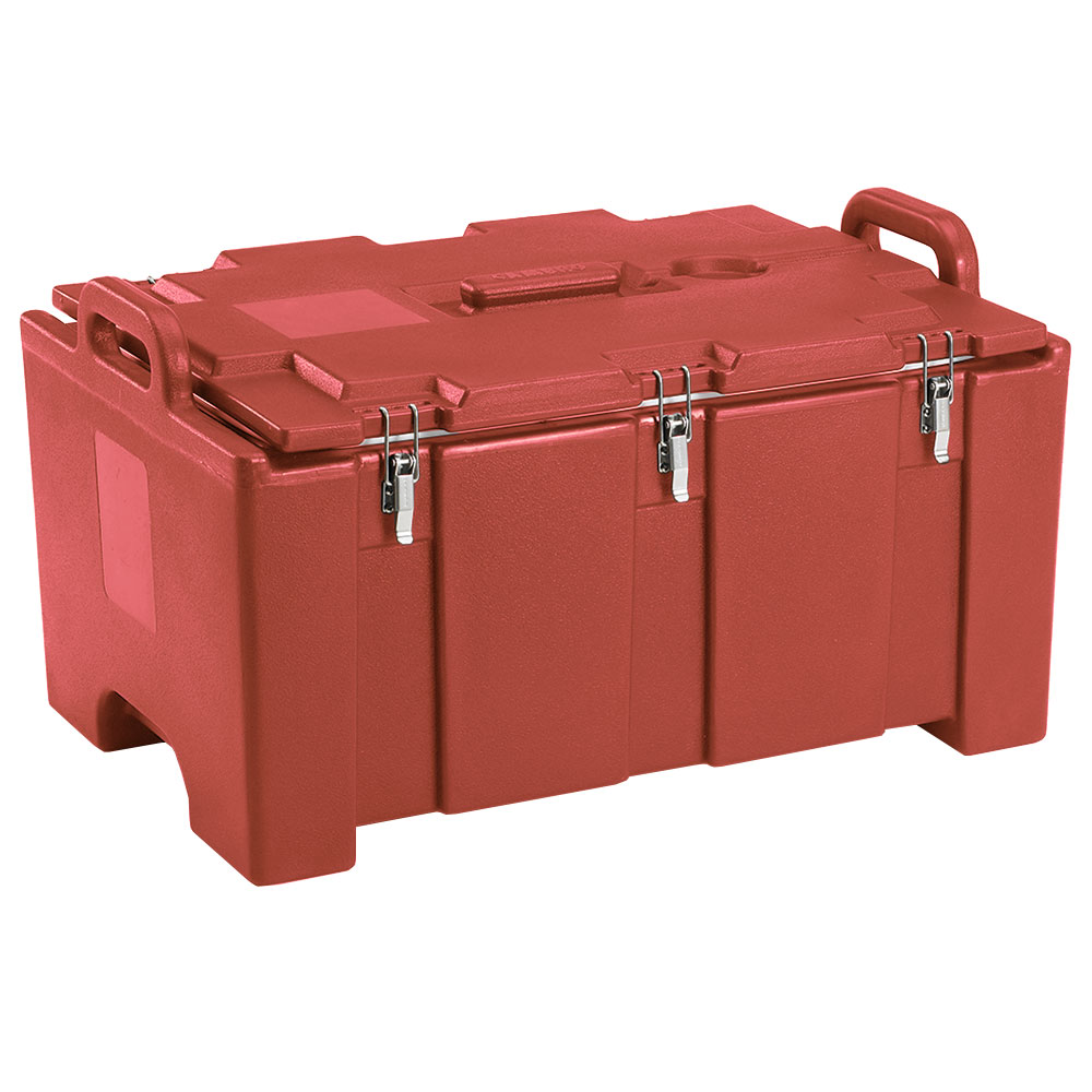 "Cambro 100MPC402 Insulated Food Pan Carrier - 18x26.75x15"" Brick Red"