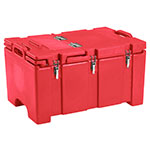 "Cambro 100MPCHL158 Insulated Food Pan Carrier - Hinged Lid, 18x26.75x15"" Hot Red"