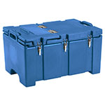 "Cambro 100MPCHL186 Insulated Food Pan Carrier - Hinged Lid, 18x26.75x15"" Navy Blue"