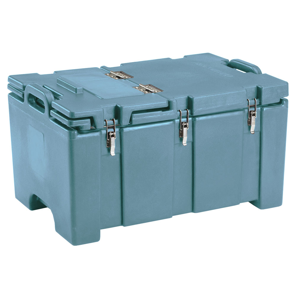 "Cambro 100MPCHL401 Insulated Food Pan Carrier - Hinged Lid, 18x26.75x15"" Slate Blue"